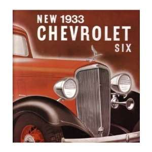 1933 CHEVROLET SIX Sales Brochure Literature Book Piece