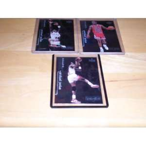 Michael Jordan lot of 3 cards 1998/99 upper deck Black Diamond #1, 2