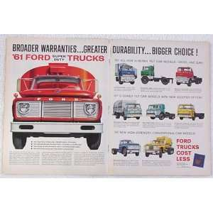 Ford Super Duty Trucks Double Page Print Ad (3597)