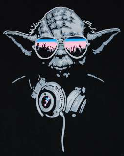 Cool DJ Yoda Trance T shirt Man Hip Hop Graffiti Guy L
