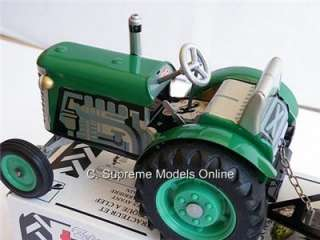 TRACTOR & TRAILER TINPLATE CLOCKWORK ZETOR KOVAP MODEL 1/25 SCALE 13
