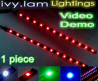 5050 30cm 12 LED Changing Color Flashing Car Light Strip