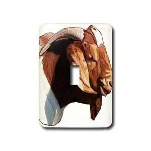 Farm Animals   Boer Doe Goat Head   Light Switch Covers