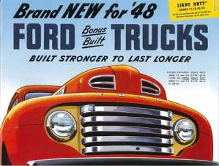 1948 FORD LIGHT DUTY TRUCK Sales Brochure Book