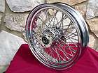 18X3.5 60 SPOKE REAR WHEEL FOR HARLEY SOFTAIL HERITAGE FAT BOY DYNA