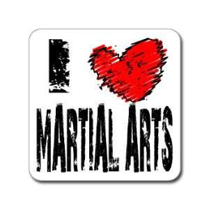 I Love Heart MARTIAL ARTS   Window Bumper Laptop Sticker