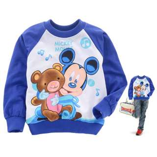 Boys Girls Mickey Mouse Long Sleeve T Shirt Coat 2 8 yrs 2154