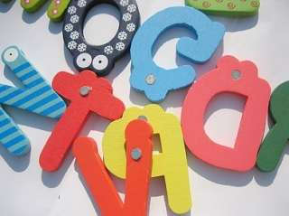 Kids Wooden Toy Teaching Alphabet Fridge Magnetic Magnet Se