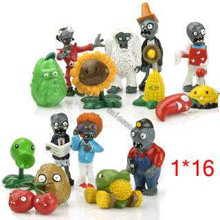 Plants Vs Zombies Action Figure Toy Doll Set OF 16 of Rare Character 5