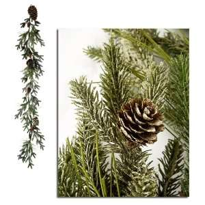 6 Frosted Pine Cone Artificial Christmas Garland
