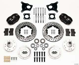 WILWOOD DISC BRAKE KIT,FRONT,69 74 AMC JAVELIN,11 DRILLED ROTORS