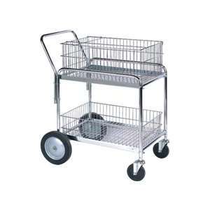 Office Mail Cart Deluxe 5/10 Casters