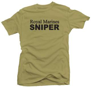 Royal Marines Sniper UK British Military Army T shirt
