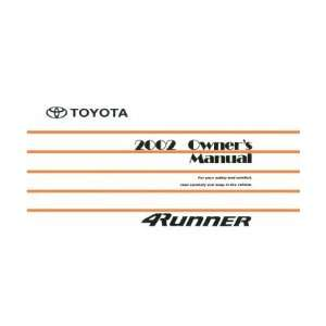 2002 TOYOTA 4RUNNER Owners Manual User Guide Automotive