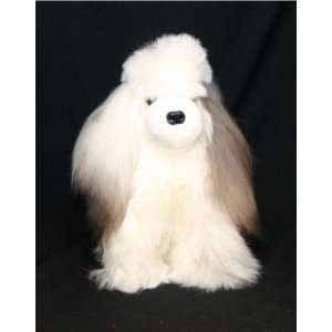 Soft Cuddly Alpaca Stuffed Animal Hand Made Pet Dog APD_WHITEBROWN10