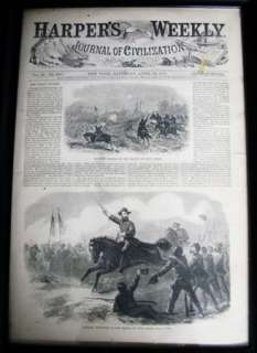 1865 HARPERS WEEKLY NEWSPAPER CIVIL WAR FRAMED