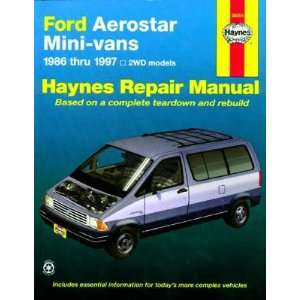 Ford Aerostar Mini Van Haynes Repair Manual (1986 1997