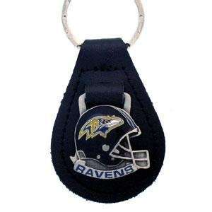 Baltimore Ravens Small Leather Key Ring