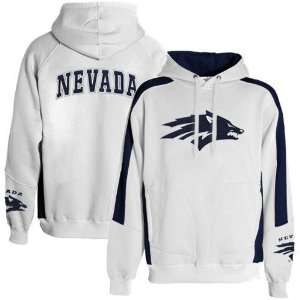 Nevada Wolf Pack White Spiral Hoody Sweatshirt Sports