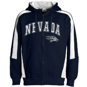 Nevada Wolf Pack Navy Blue Spiral Full Zip Hoody Sweatshirt