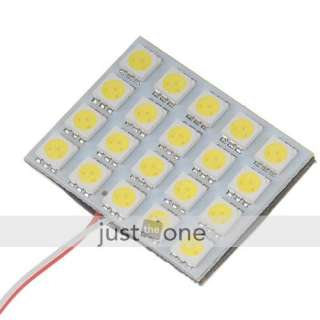 car interior 20 SMD 5050 LED Light panel Lamp white 12V