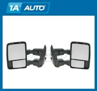 Pickup Truck Super Duty Manual Towing Side Mirrors Pair Set