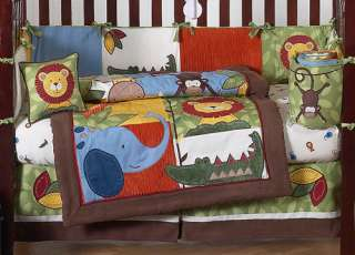 MONKEY GIRAFFE JUNGLE SAFARI BABY BOY CRIB BEDDING SET