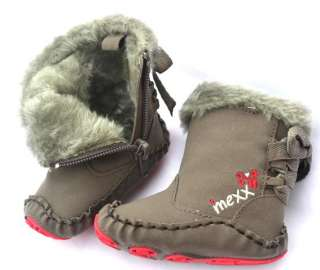 Gray Fur toddler baby girl shoes boots size 1 2 3