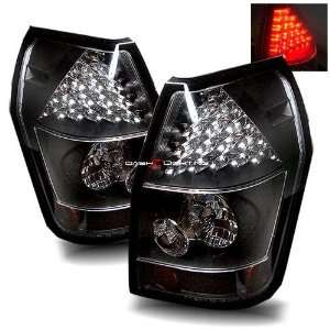 05 08 Dodge Magnum LED Tail Lights   Black Automotive