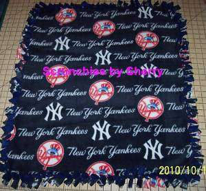 New York Yankees Navy Fleece Baby Pet Dog Blanket MLB