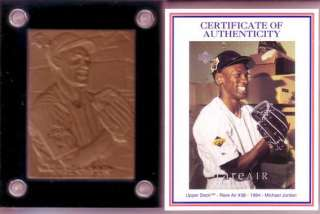 you michael jordan highland mint bronze card and coa