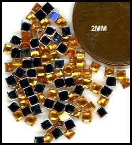 100 Rhinestones GOLD new lots Arts Crafts SQUARES