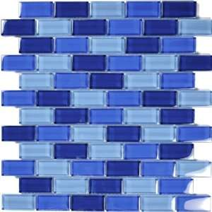 Glass Tile Cobalt Blue Glass Tile Blend 1 x 2