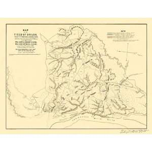PITTSBURGH LANDING TENNESSEE (TN) CIVIL WAR MAP 1862