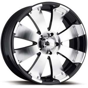 Ultra Mako 18x8.5 Machined Black Wheel / Rim 8x180 with a 35mm Offset