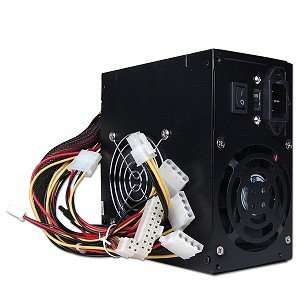 New Power Supply LW500W Dual Fan 20+4 pin ATX, Black