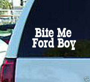 Bite Me Ford Boy Decal Vinyl Window Sticker Chevy Truck
