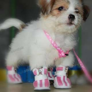 Dog Puppy Doggy Stripes Sporty Boots Pet Shoes Clothes