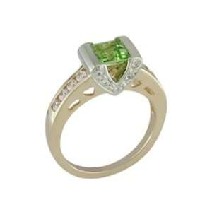 Celia   size 10.00 14K Gold Peridot & Diamond Ring