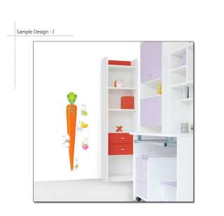 CARROT KIDS GROWTH HEIGHT CHART DIY WALL STICKER DECAL
