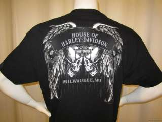 HARLEY DAVIDSON Motorcycle t shirt size XL MILWAUKEE WI