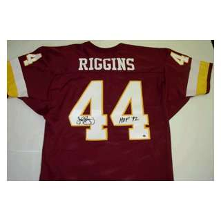 Autographed John Riggins Jersey   Red HOF92 Sports