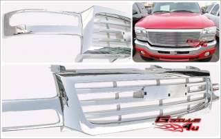 04 06 05 new gmc sierra 1500 chrome grille grill shell cg 01gm436pc