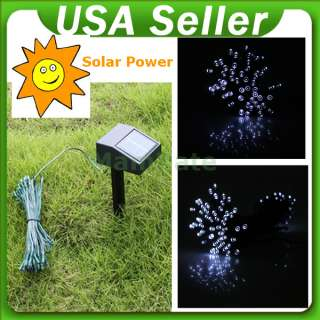 Solar Power 100 LED White Color String Light Xmas Christmas Party