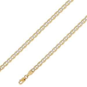 14K Solid 2 Two Tone Yellow White Gold Gucci   Mariner Chain Necklace