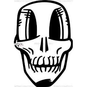 PRETTY EYELASHES GIRL SKULL WHITE VINYL DECAL STICKER