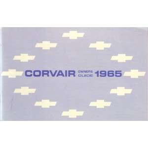 1965 CHEVROLET CORVAIR Owners Manual User Guide