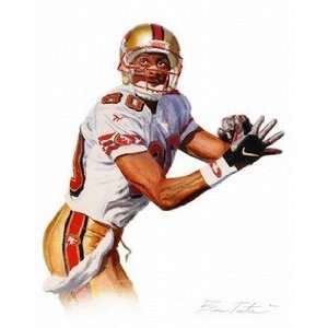 Jerry Rice San Francisco 49ers Giclee on Canvas Sports