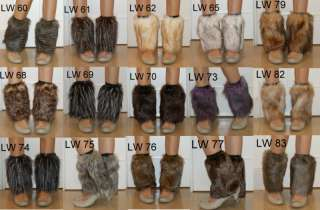 20cm faux fur funky leg warmers boots cover club dance