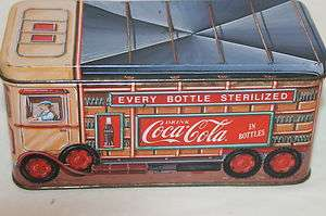 1993 Drink Coca Cola in Bottles Delivery Truck Tin Box